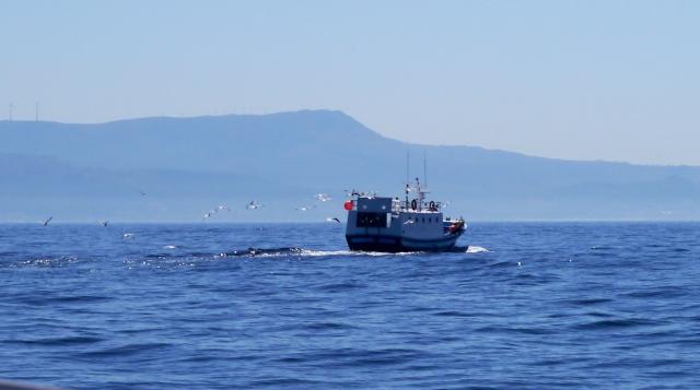 Fishing boat, off Ria Muros