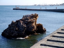 Looking back to Cascais marina