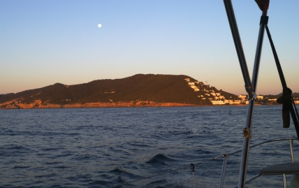 Leaving Santa Eulalia at first light